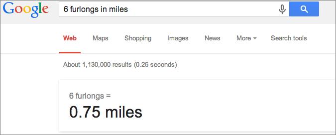 Google convert units