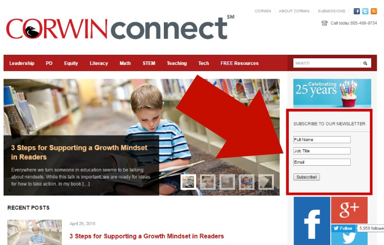 Subscribe to Corwin Connect